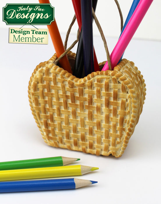 C - An idea using the Basket Weave Silicone Mould product