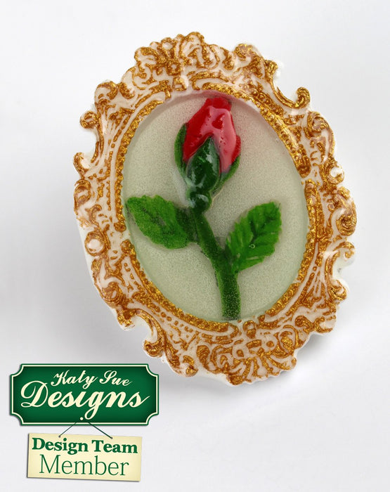 C - An idea using the Oval Cameo & Oval Frame 1 Silicone Mould product