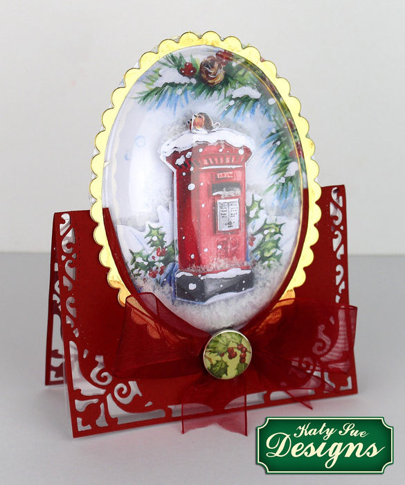 C - An idea using the Snow Globe Christmas Scenes & Flower Soft Kit product