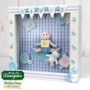 C - Alphabet bunting craft mould