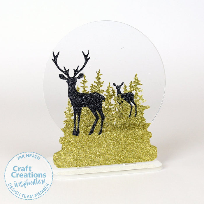 3mm Acrylic Snow Globes and Tea Light Stands
