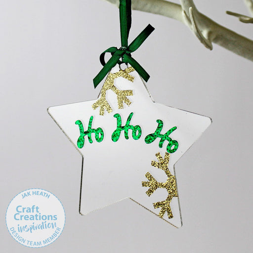 2mm Clear Acrylic Christmas Hanging Shapes Collection (Pack of 8)