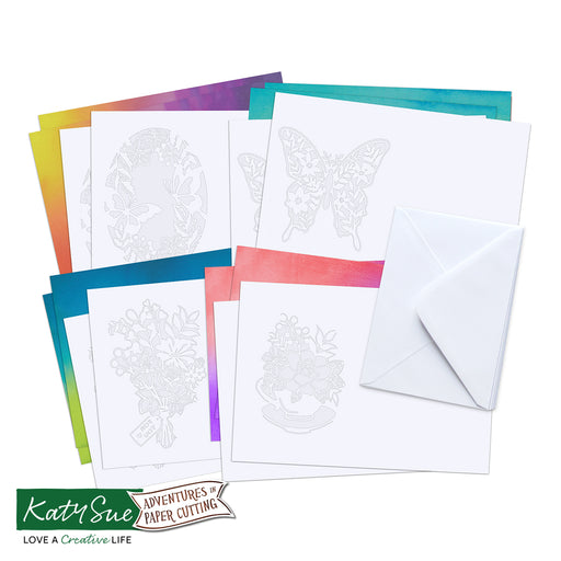 Adventures in Paper Cutting | Blossoms & Butterflies Cards Set