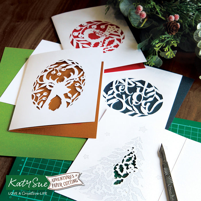 Adventures in Paper Cutting | Christmas Cards Set