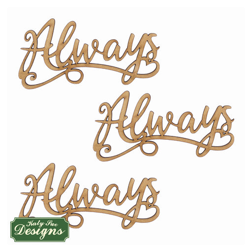 MDF Embellishment Words - Always (Set of 3)