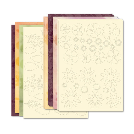 Autumn Hues Die Cut Flowers & Foliage (Pack of 14)