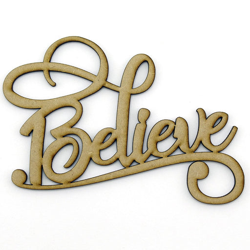 MDF Embellishment Words - Believe - Set of 3
