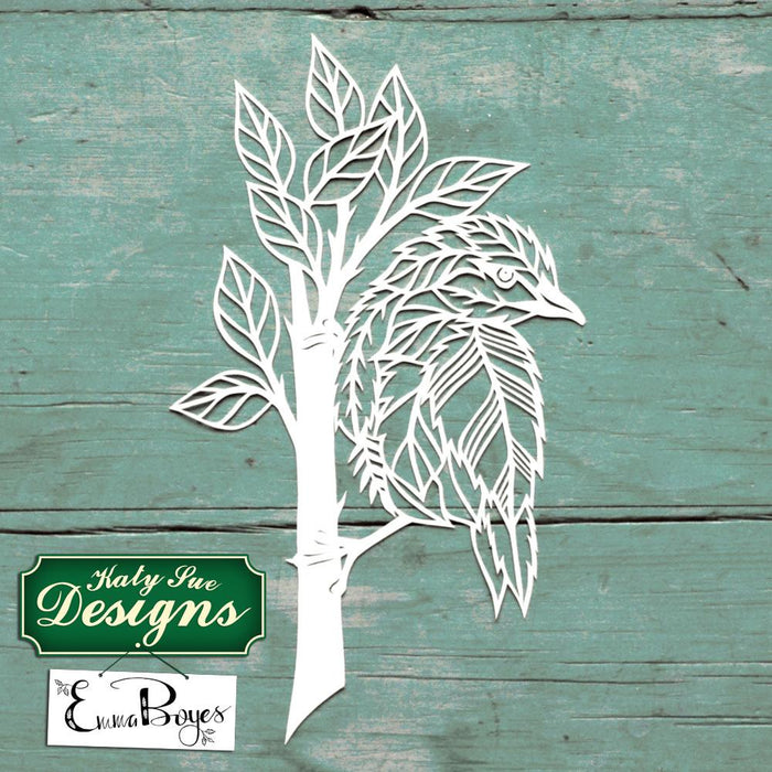 C - Paper Cut Bird on Branch