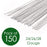 Pack of 150 Mixed White Florist Wires and Tape Gauges 24/26/28 Gauge