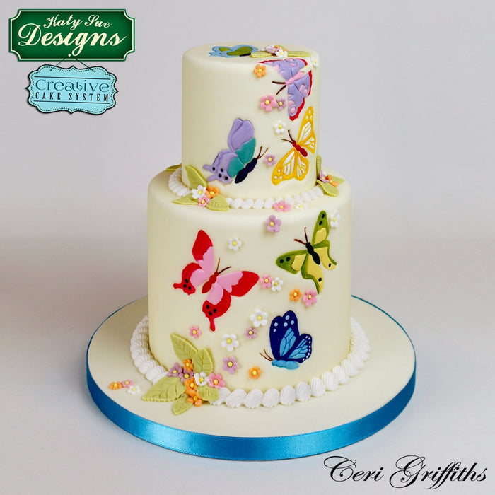 CD - Cake Decorating Idea using Butterflies Silicone Embossers