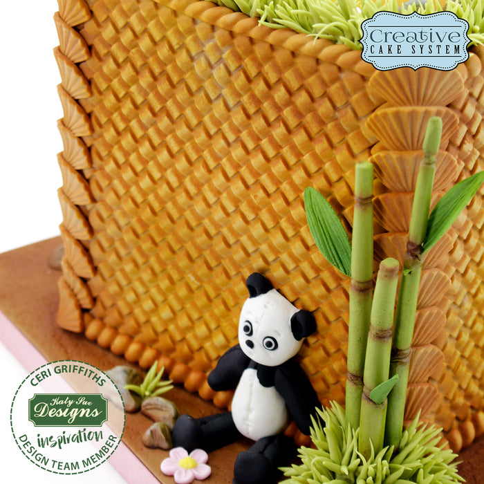 Continuous Rattan Basket Weave Textured Silicone Mould Design Mat for Cake Decorating and Craft