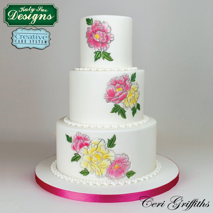 CD - Cake Decorating Idea with Peonies Embosser Mould