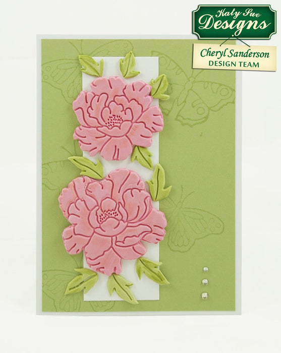 C - Craft Idea with Peonies Embosser