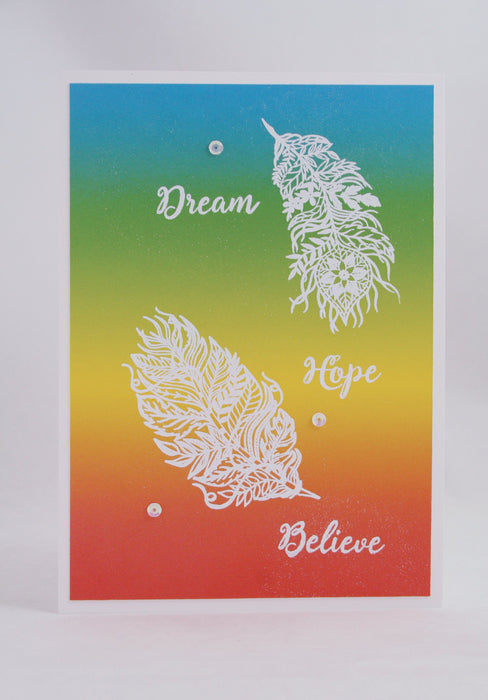 C - Feathers Stamp Set