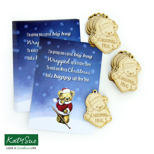 Christmas Hug with Poem Postcard - Pack of 10