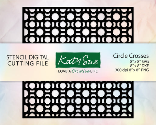 Circle Crosses Stencil | Digital Cutting File