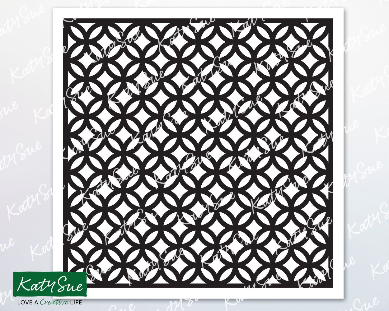 Circle Trellis Stencil | Digital Cutting File