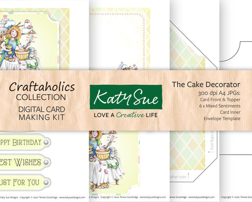 Craftaholics The Cake Decorator | Digital Card Making Kit