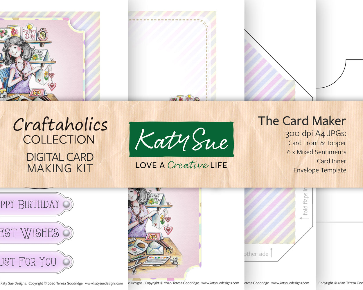 Craftaholics The Card Maker | Digital Card Making Kit