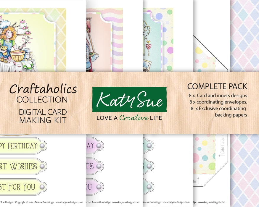 Craftaholics Collection Complete | Digital Card Making Kit