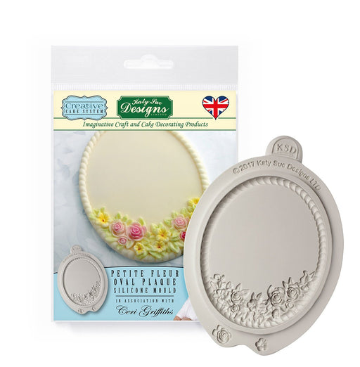 C&D - Petite Fleur Oval Plaque Creative Cake System Silicone Mold