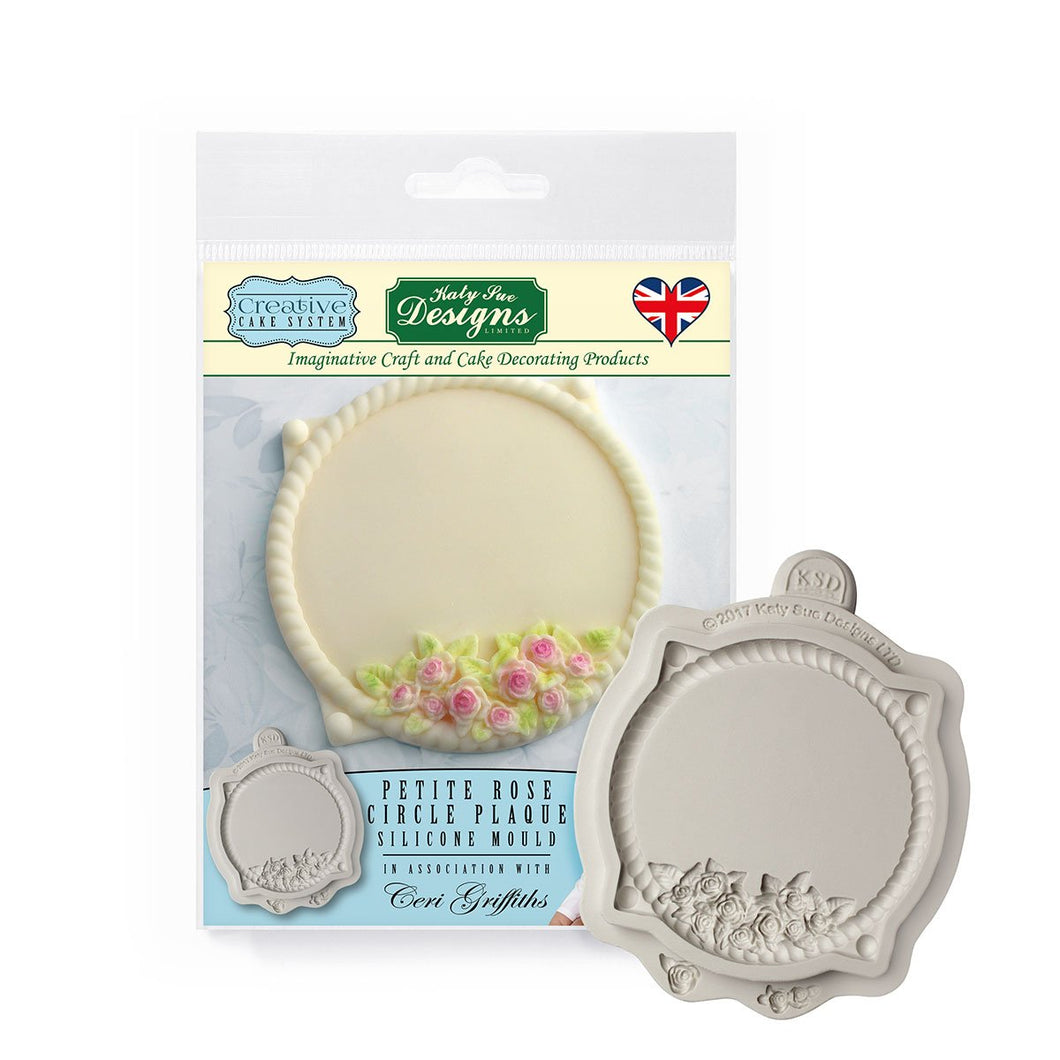 C&D - Petite Rose Circle Plaque Silicone Mould