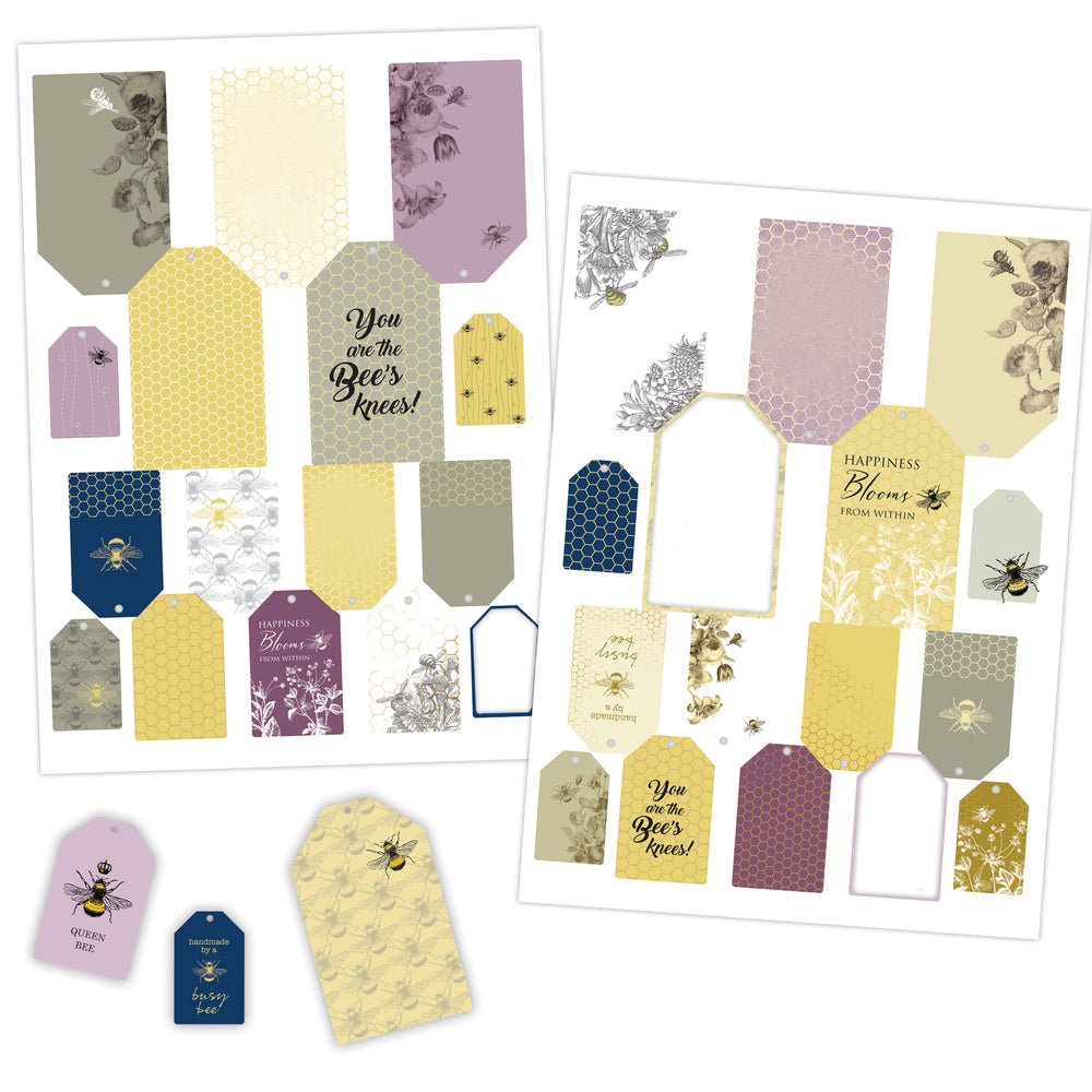 Die Cut Toppers - Bee Tags (2 Designs)