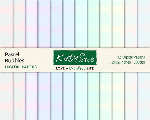 Pastel Bubbles | 12x12 Digital Papers