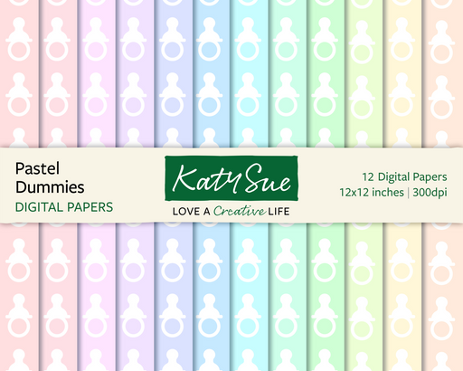 Pastel Dummies | 12x12 Digital Papers