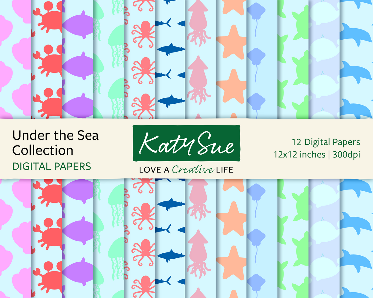 Under the Sea Collection | 12x12 Digital Papers