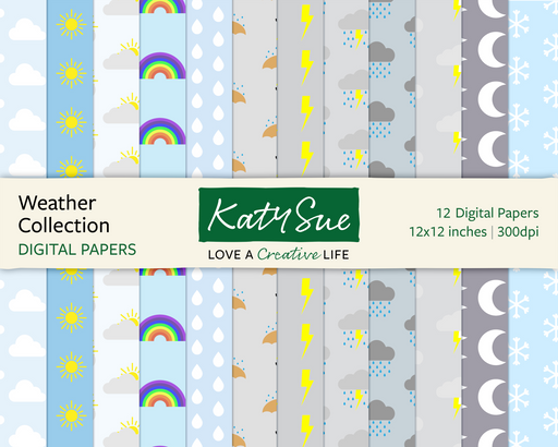 Weather Collection | 12x12 Digital Papers
