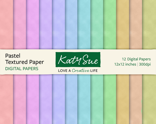 Pastel Textured Papers | 12x12 Digital Papers