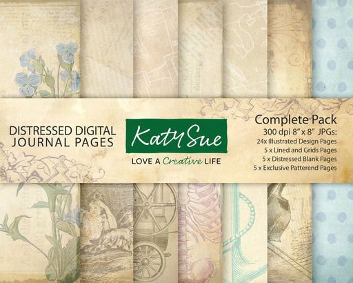 Distressed Digital Journal Pages | Complete Pack