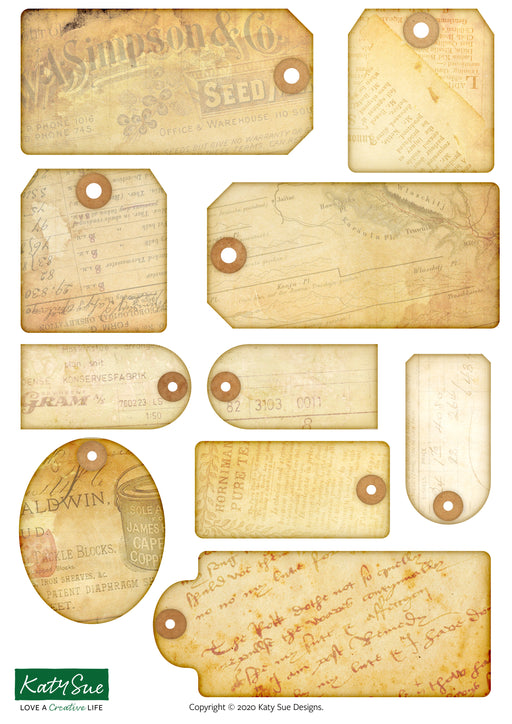 Distressed Tags | Digital Craft Bundle