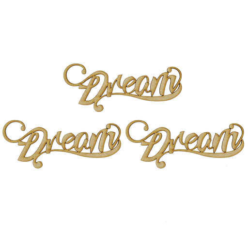 MDF Embellishment Words - Dream - Set of 3 words