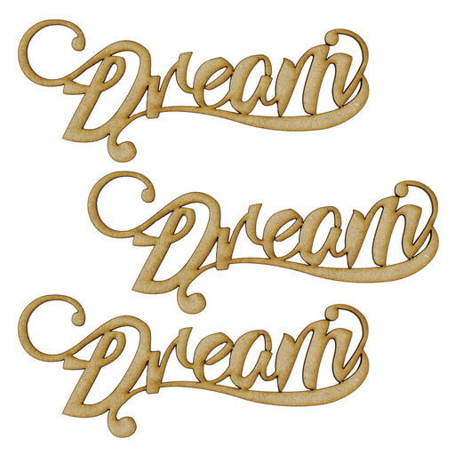 MDF Embellishment Words - Dream (Set of 3)