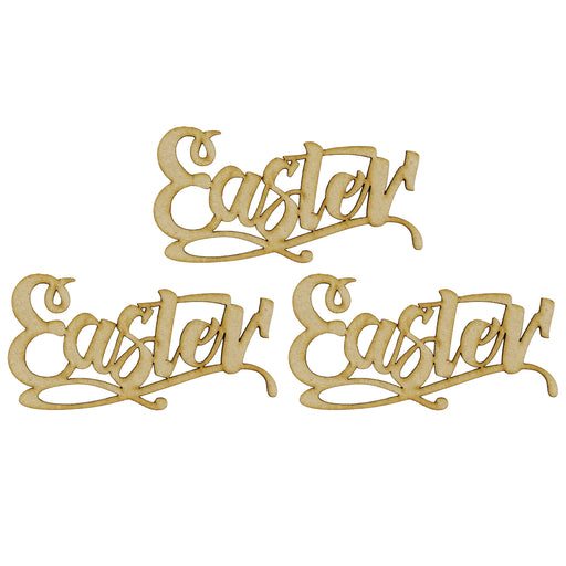 MDF Embellishment Words - Easter - Set of 3 words
