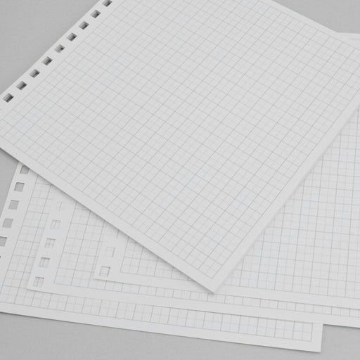 Build a Book 8 x 8 Pre Punched Essential Pages - Graph - 24 Sheets - 157gsm white