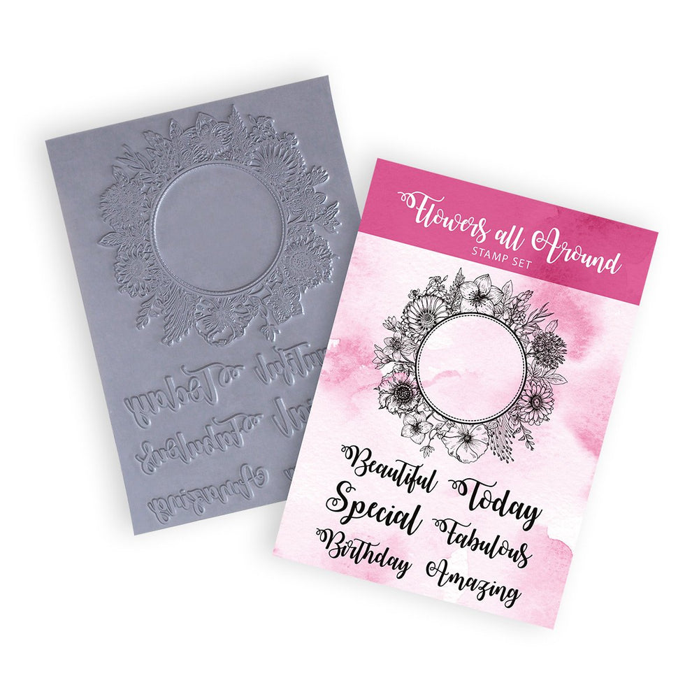 A5 Flowers All Around | Rubber Stamps (Pack of 7)