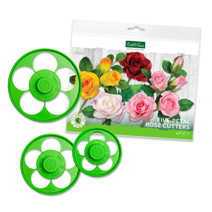 Five Petal Rose Cutters - Set of 3
