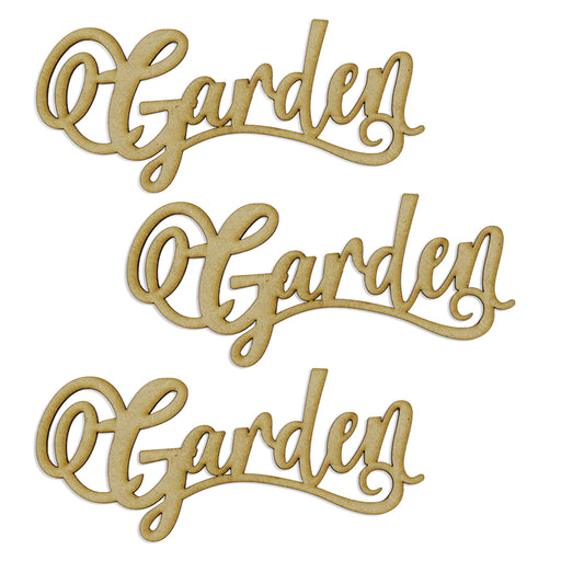 MDF Embellishment Words - Garden (Set of 3)