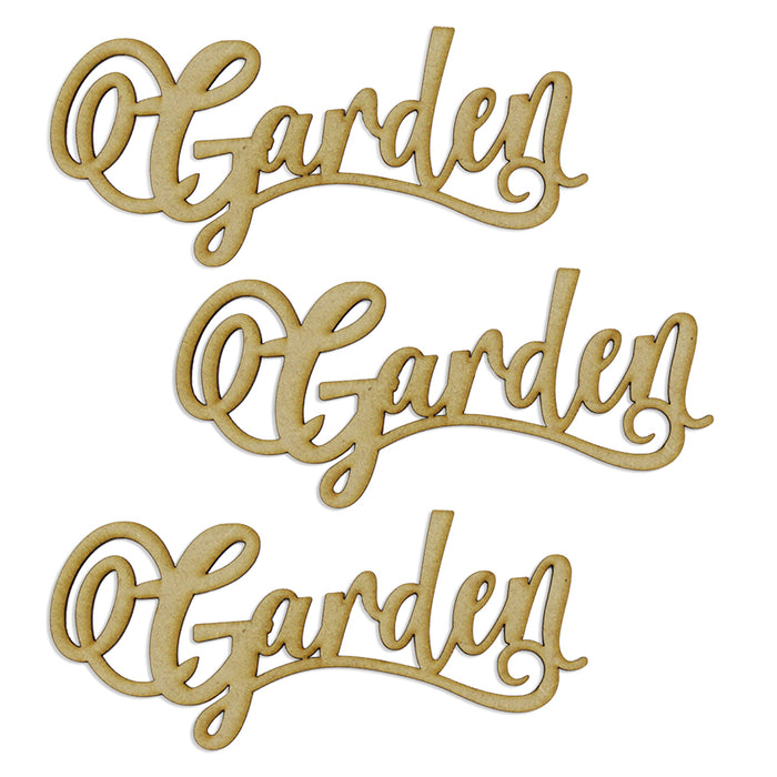 MDF Embellishment Words - Garden - Set of 3 words