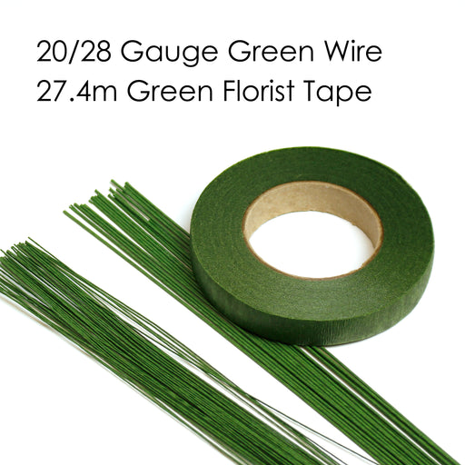 Green Florist Wire and Tape Starter Pack