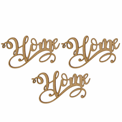 MDF Embellishment Words – Home - Set of 3