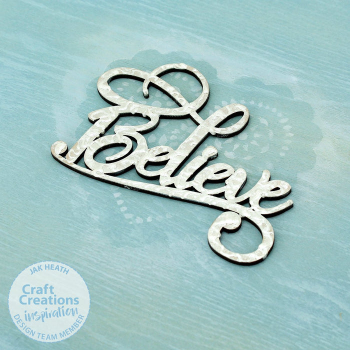 MDF Embellishment Words - Believe (Set of 3)