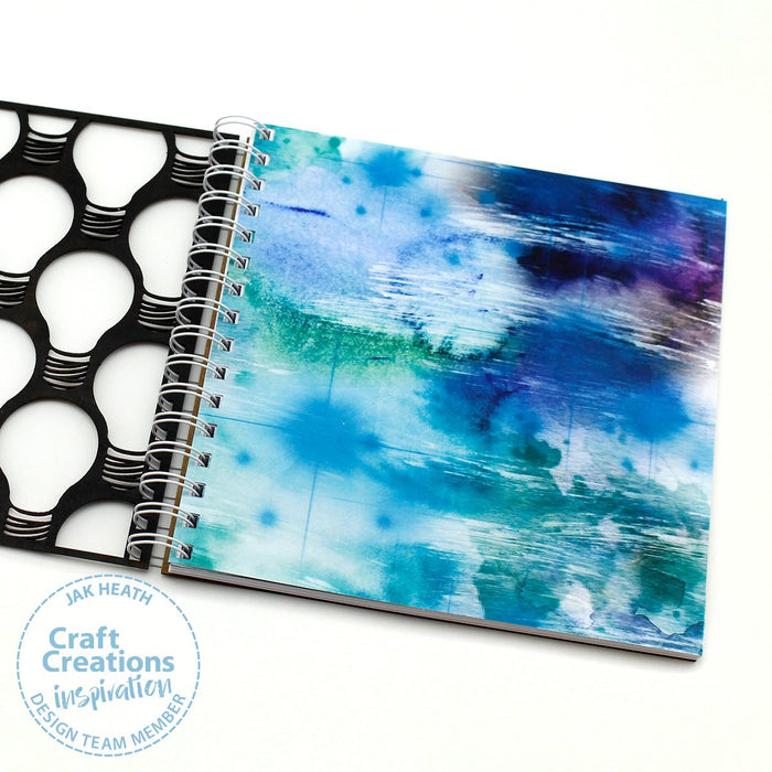 Build a Book Punched Cardstock -  24 Sheets Water Colour Effects 300gsm 8 x 8