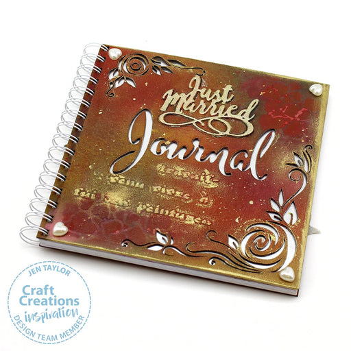 8 inch Square MDF Journals - Rose Journal