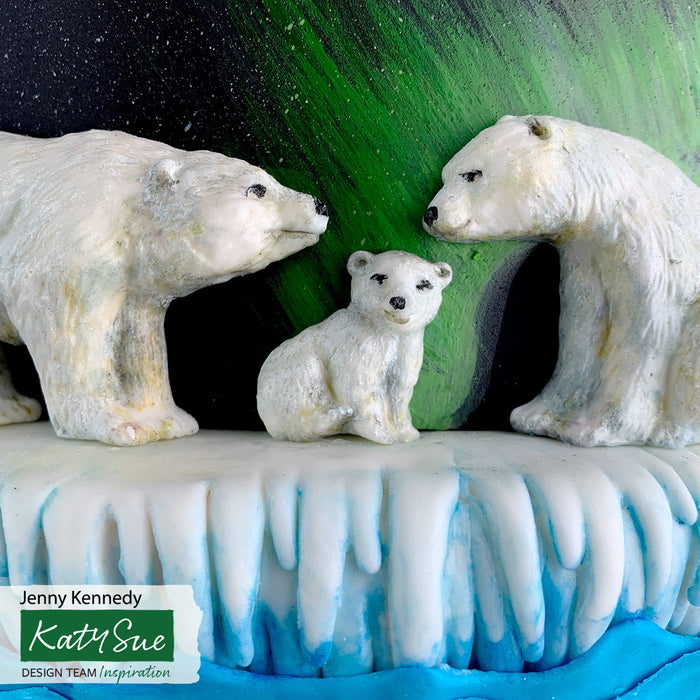 Polar Bear Family Silicone Mould