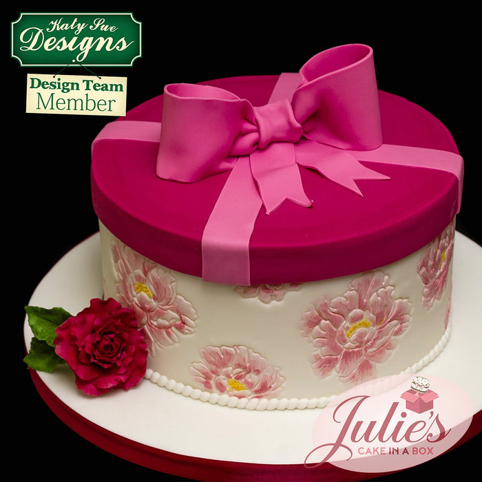 CD - Cake Decorating Idea using Peonies Silicone Embossers