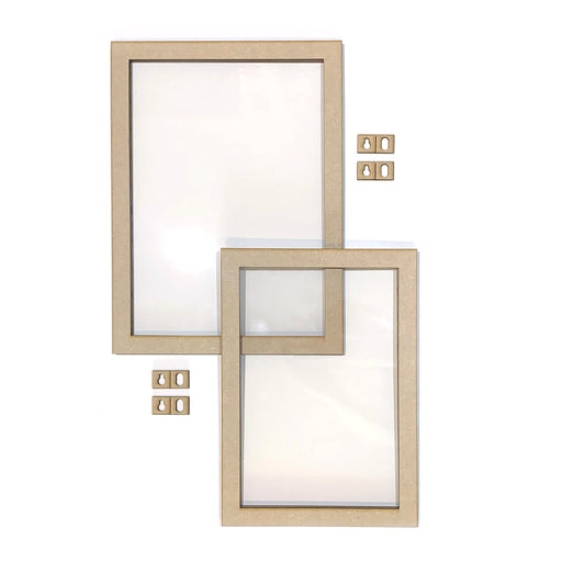 MDF Floating Frames - Portrait, pack of 2